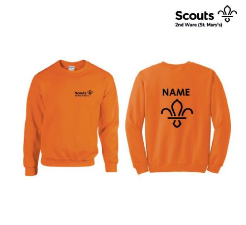 2nd Ware Scouts Orange Sweatshirt